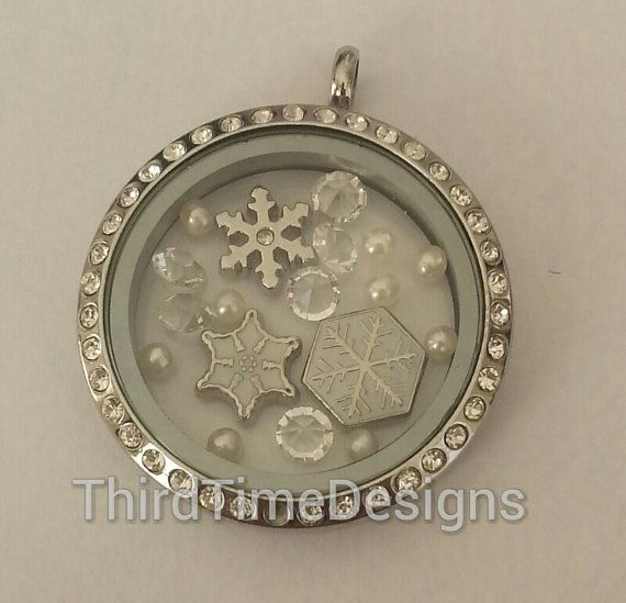 So pretty for January.   LET IT SNOW Floating Charm Bundle by ThirdTimeDesigns on Etsy, $9.99