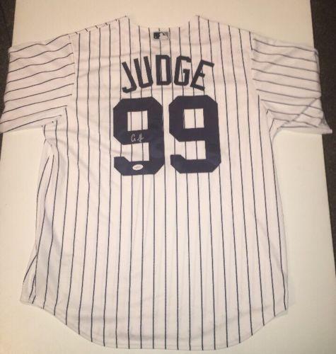 Aaron Judge Yankees Auto Autographed Baseball Jersey Sz L JSA Sticker Only #1