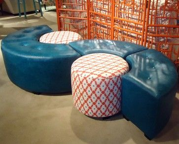 Indochine - asian - ottomans and cubes - cleveland - Norwalk Furniture - Norwalk