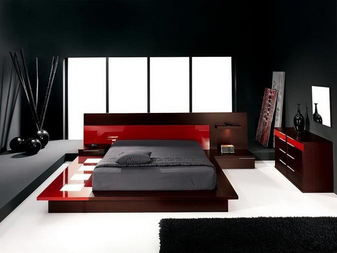 Bedroom : Modern Bedroom Brown Furniture Sets With Stylish Dark And ...