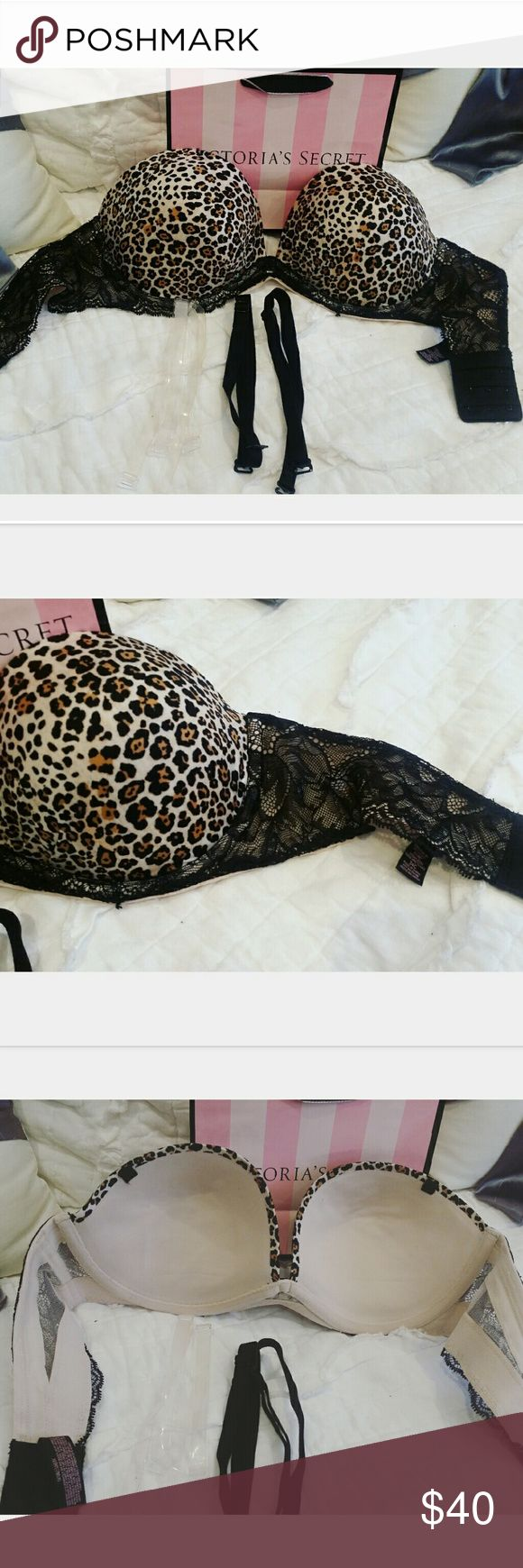 Victorias Secret Fabulous Bra Brand new without tags. Fabulous pushup collection. Can be worn strapless as well as multi way . Comes with black straps and clear straps. Victoria's Secret Intimates & Sleepwear Bras