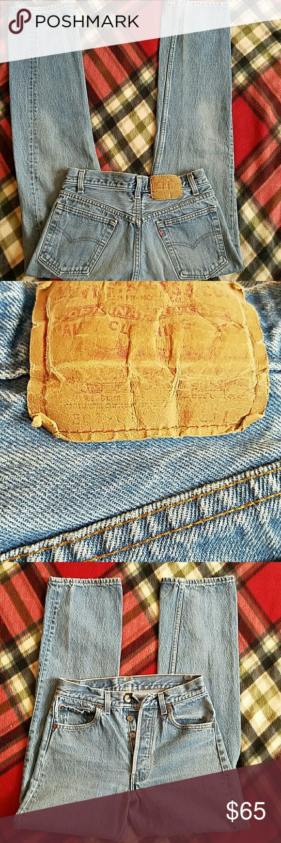 BOTTOM PRICE~VINTAGE LEVI'S 501 BUTTONFLY JEANS VINTAGE LEVI 501 BUTTONFLY JEANS  28/30 LEVI 501 Jeans