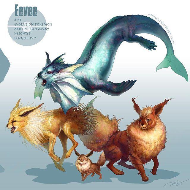 Which Eevee do you train? #eevee #eeveelution #pokemonxy #pokemon… Pokemon, Pokemon GO