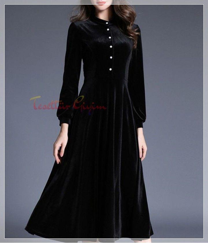 Tesettur Kadife Elbise Modelleri Elbise Elbise Modelleri The Dress