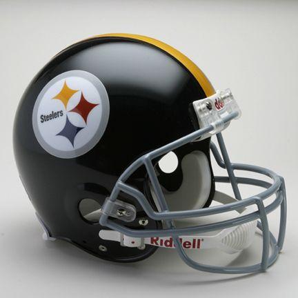 """Pittsburgh Steelers (1963-1976) Riddell Full Size """"Old Style Throwback"""" Football Helmet"":… #SportingGoods #SportsJerseys #SportsEquipment"