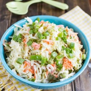 This Buttermilk Coleslaw recipe makes a delicious coleslaw that will retain its crunch and not get soggy. Perfect combo of sweet and tangy.