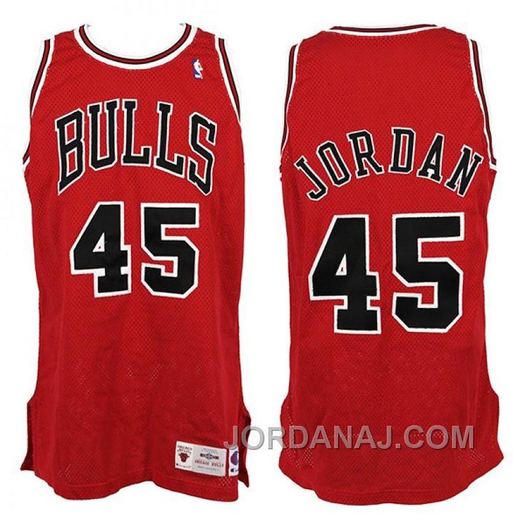 Michael Jordan Chicago Bulls #45 Red Swingman Jersey