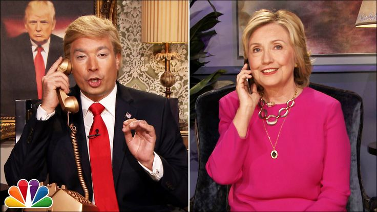 """Donald Trump calls Hillary Clinton to interview her before her """"Tonight Show"""" appearance. Subscribe NOW to The Tonight Show Starring Jimmy Fallon: http://bit..."""