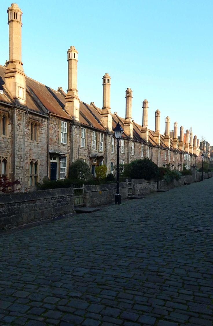 Vicar's Close, Wells, Somerset, England, UK