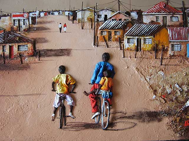 "South African Artist: Laz - ""Cycling"" ....He does some sweet 3D art."