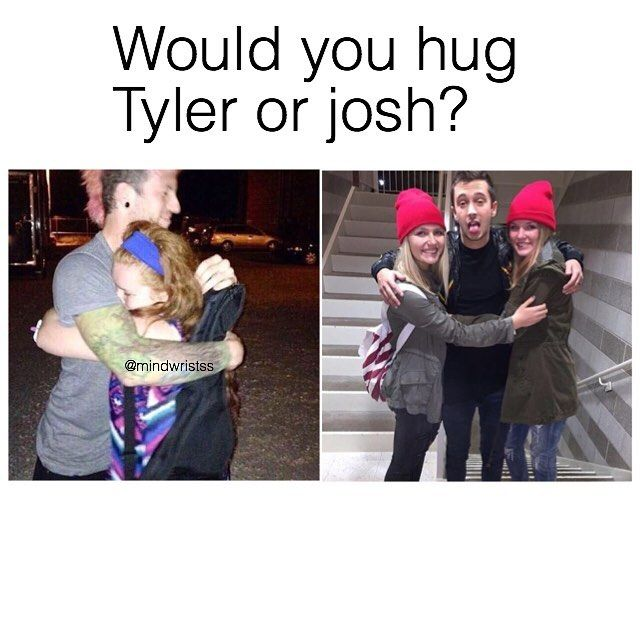 from what i've seen josh gives better hugs but honestly both i can't choose << I dunno man, both look like good huggers