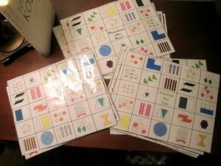 Bingo des fractions.