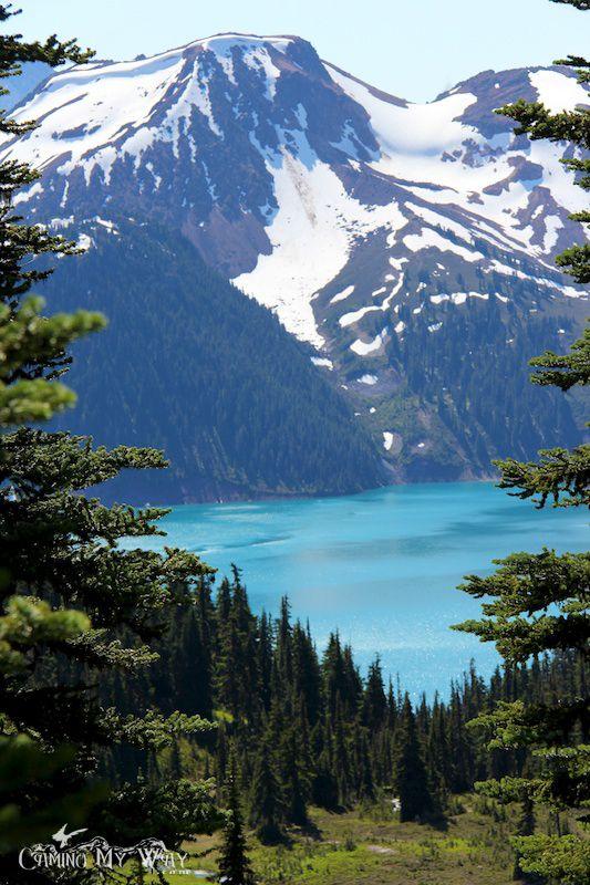 First View of Garibaldi Lake from Black Tusk Meadows.