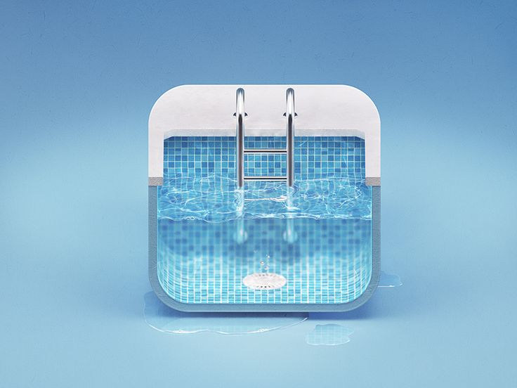 Pool iOS icon / very inviting ... hard to dislike this in any way, really, lovely!