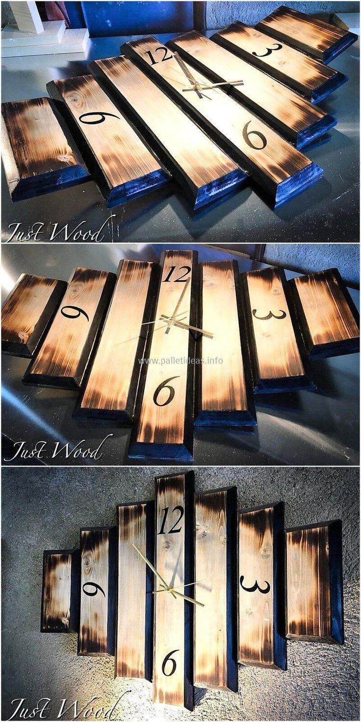 Don't waste your money on buying expensive wooden items and craft this rustic pallets clock art to renovate your room, lounge and other areas with an eye-catching pallet wood plan. This is simply created pallet project that we have crafted with few stacks of wood pallets and a black color painting spray.