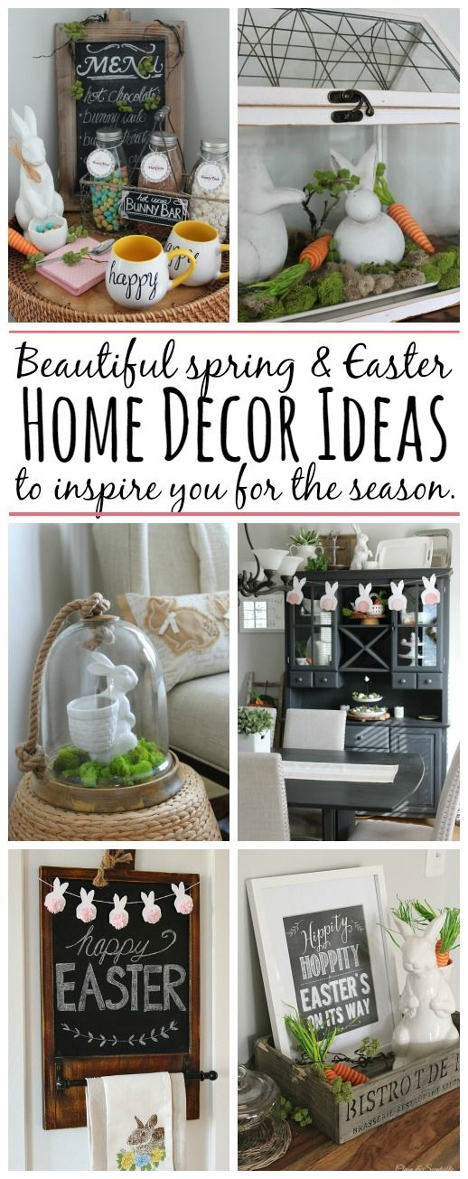 Beautiful spring home tour with spring and Easter decor! Lots of simple ideas to try.