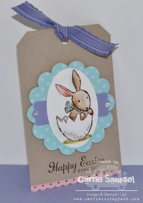 handmade tag from Carries Scrapyard: Everybunny Easter Tags ... Stampin' Up!