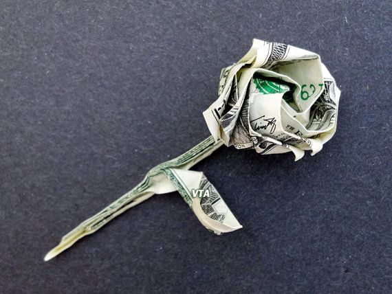 ROSE Money Origami Dollar Bill Art by VincentOrigamiArtist