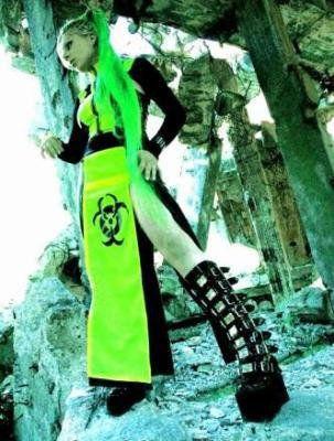 cyber goth #biohazard #skirt