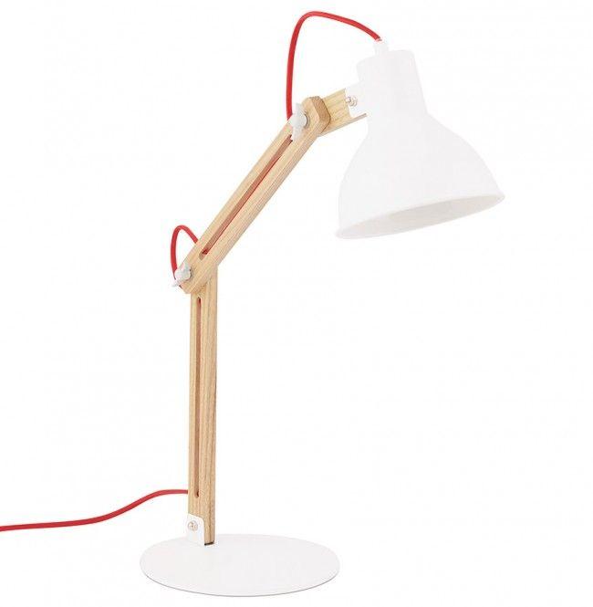 Witte Tafellamp Gemaakt Van Natuurlijk Hout Tafellamp Vloerlamp Ronde Tafel