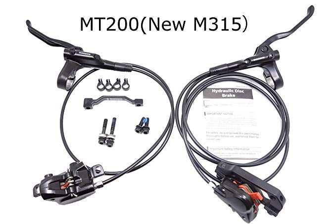 UKJGbike Compatible MT200 Hydraulic Brake Set Kits mtb hydrolic Disc brakes set for Shimano Mountain Bike