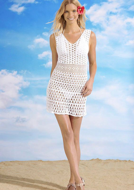 CROCHET FASHION TRENDS exclusive white crochet by LecrochetArt, $300.00