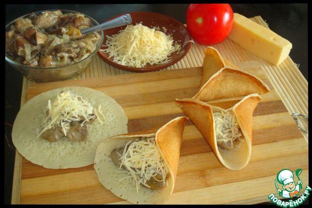Блины с грибами и сыром ингредиенты