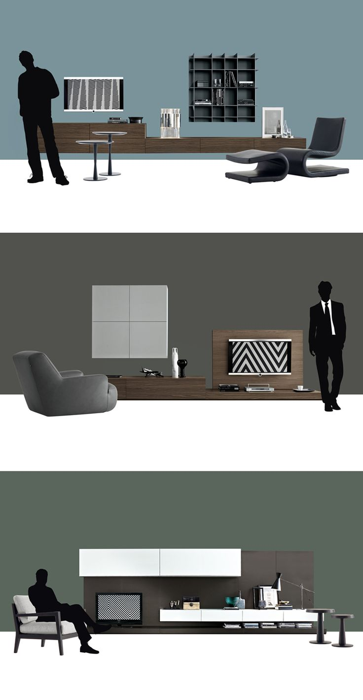 Contemporary TV Wall Unit by Poliform