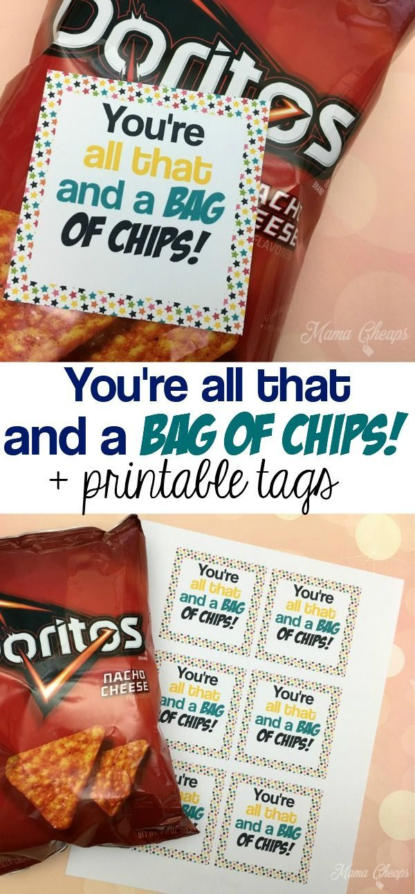 Here's a quick and easy Valentine!  Stick our printable tags on a bag of chips! https://www.mamacheaps.com/2018/02/bag-of-chips-valentine.html