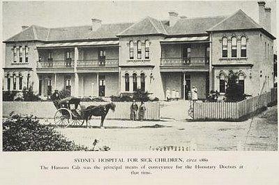 Sydney Hospital for Sick Children, Glebe, c1860