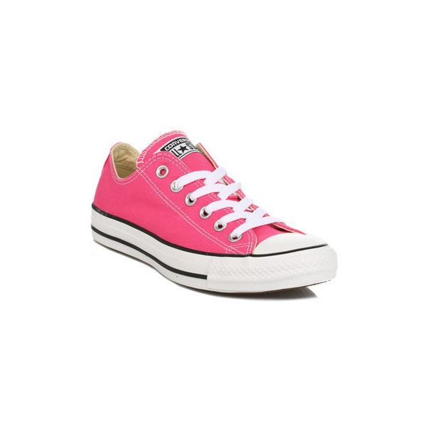 Converse Womens Pink Paper All Star Low Trainers Shoes (Trainers) ($69) ❤ liked on Polyvore featuring shoes, sneakers, pink, trainers, women, star shoes, converse shoes, pink shoes, converse footwear and star sneakers