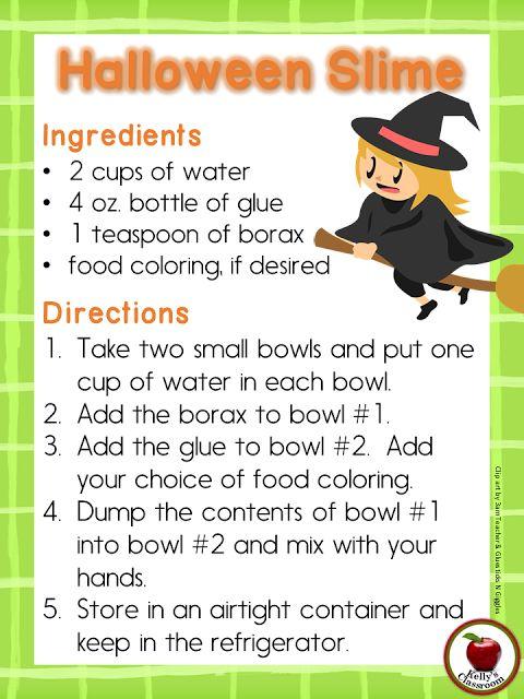 Kelly's Classroom Online: Halloween Slime