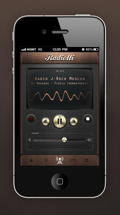 retro interface #mobile #app #design