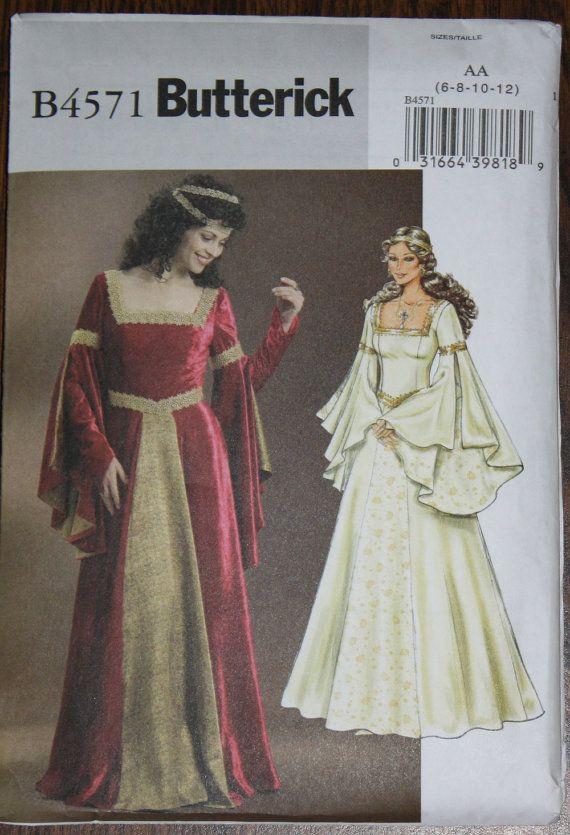 Medieval Renaissance Costume Dress Pattern by FeminineDress, $5.00