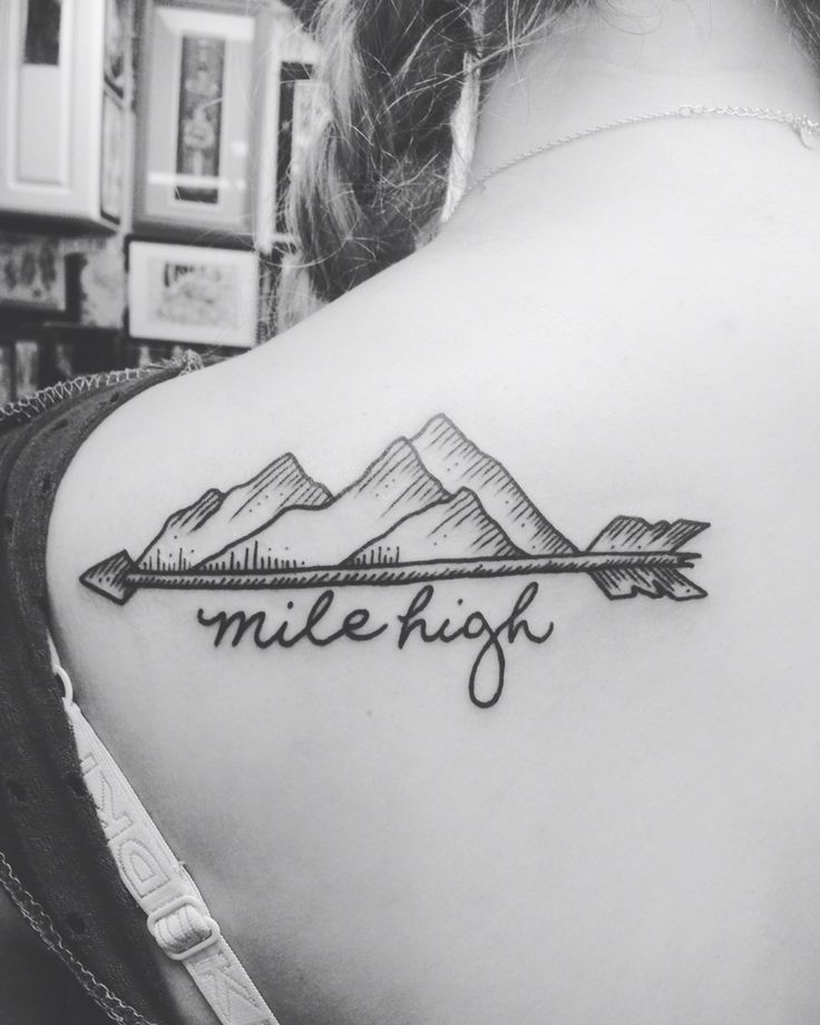 back mountain colorado arrow tattoo to remind me of my roots.