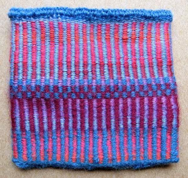 progetti di tessitura di Ruth: Un altro sacchetto arazzo con lo stesso telaio