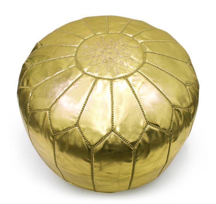 Gold Moroccan Pouf | Pouf Marroquino dourado
