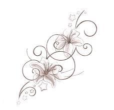 lilly tattoo . So dainty!