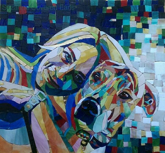 Colour of Love custom glass mosaic portrait by PiecefulArts
