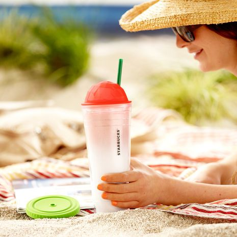 Starbucks® Chiseled Ombre Cold Cup - Coral, 24 fl oz. $15.95 at StarbucksStore.com