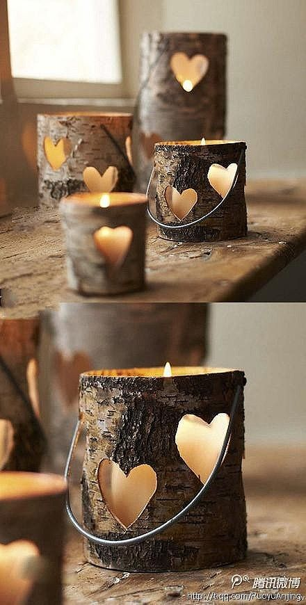 TREE BARK CANDLE HOLDERS