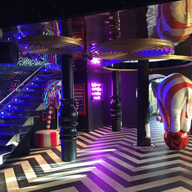 Circus Club Ortakoy Istanbul Turkey #night #club #circus #interior #design #elephant #candy #zigzag #alice in wonderland by Gsc Design | Interiors | Atelier