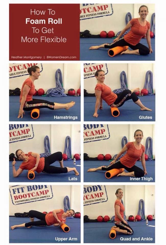 How to foamroll to get more flexible by Heather Montgomery