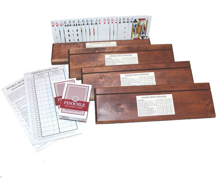 Amazon.com: Double Deck Pinochle Card Holders Gift Set: Includes 4 Card Holders, 2 Decks Pinochle Cards, Quick Reference Card and Score Pad: Toys & Games