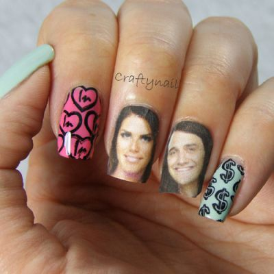 Big Brother 15 nail art!  Go Amanda and McCrae!!