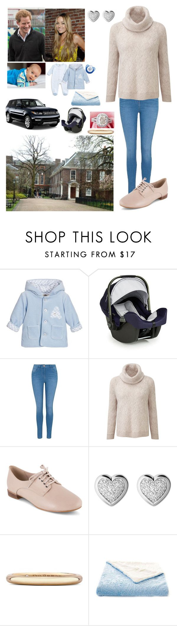 """""""Family leaving from Buckingham palace and Go back home to Kensington palace"""" by royal-431 ❤ liked on Polyvore featuring Lord & Taylor, Giorgio Armani, Nuna, George, Clarks, Links of London, De Beers and Disney"""