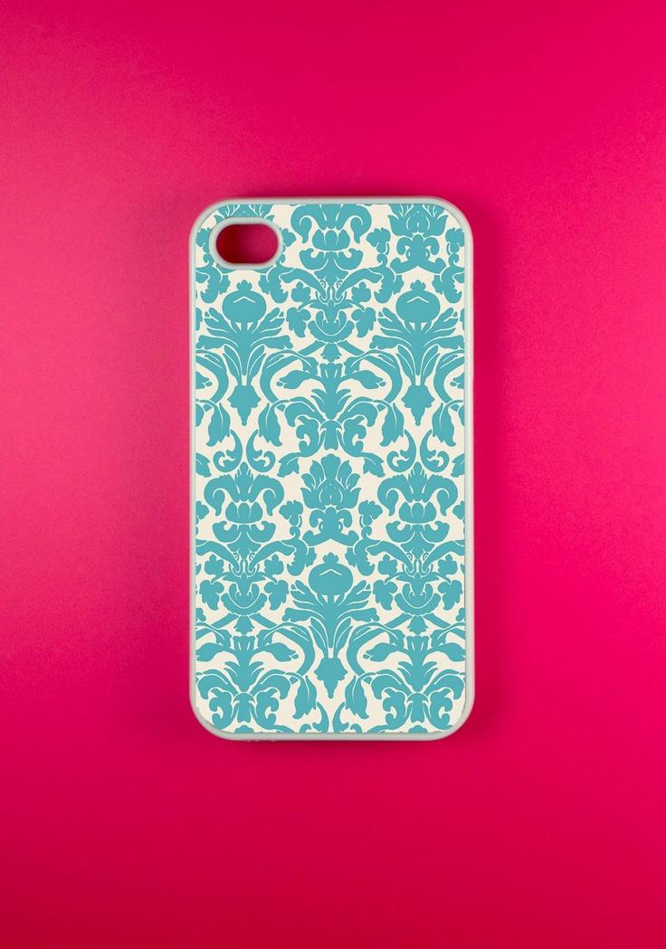 Damask Iphone 4s Case, Iphone Case, Iphone 4 Case.