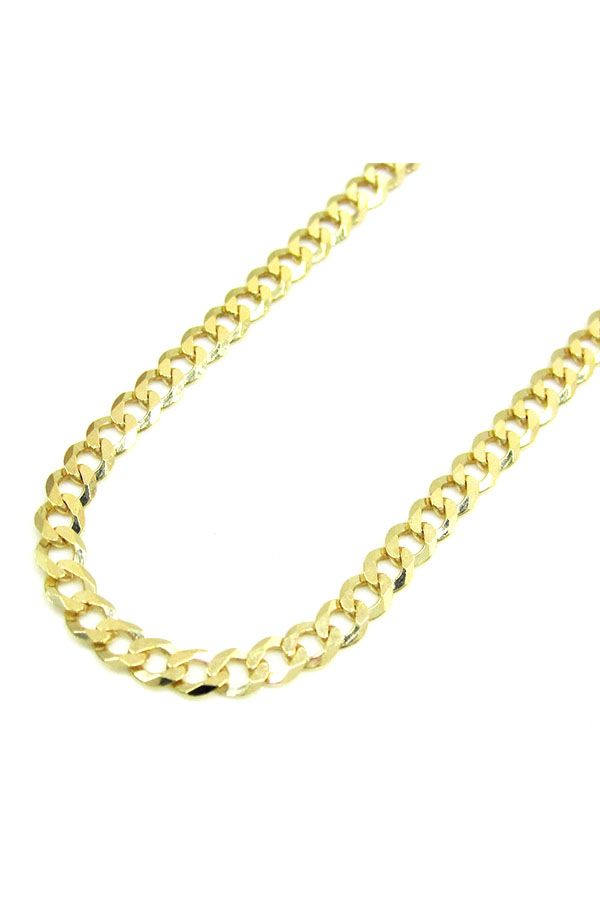 10k Solid Yellow Gold Mens Women S 5 5mm Cuban Link Chain Necklace 16 30 Cuban Link Chain Necklaces Chain Necklace Cuban Link Chain