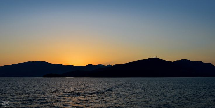 The sun comes up - Shot as the sun was rising between Corfu and igoumenitsa's port in Epirus, Greece.