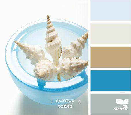 Summer Tones: Color Palettes, Beach House, Colors, Beach Color, Summer Tones, Colour Palette